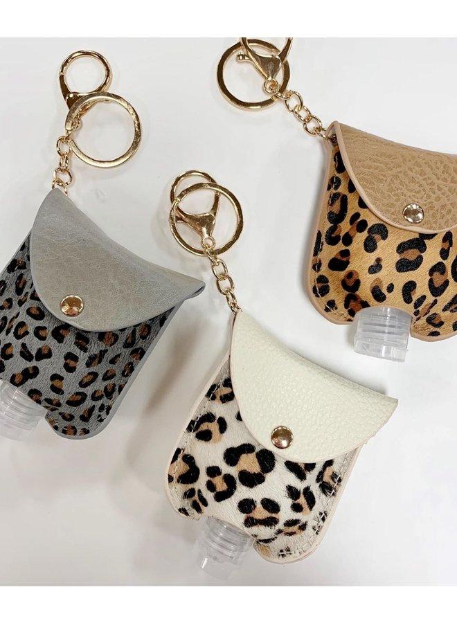 Leopard Hand Sanitizer Key Chain