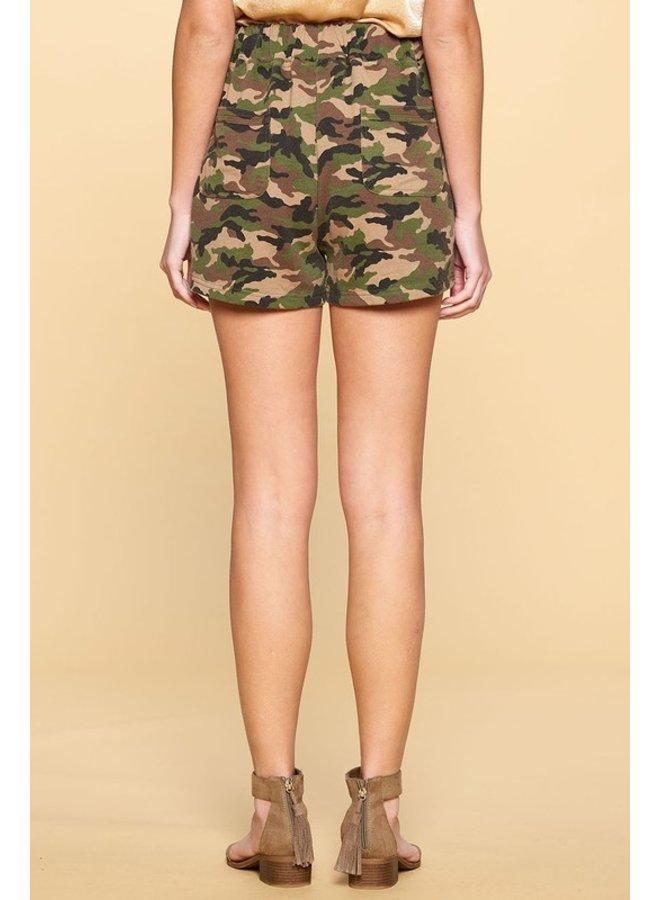 Camo Knit Shorts