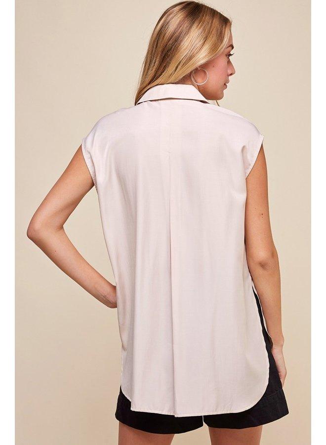 Short Sleeve Button Vest