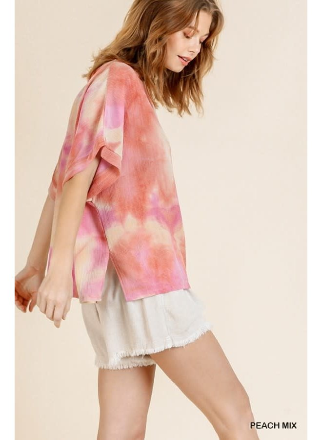 Tie Dye Top with Slits