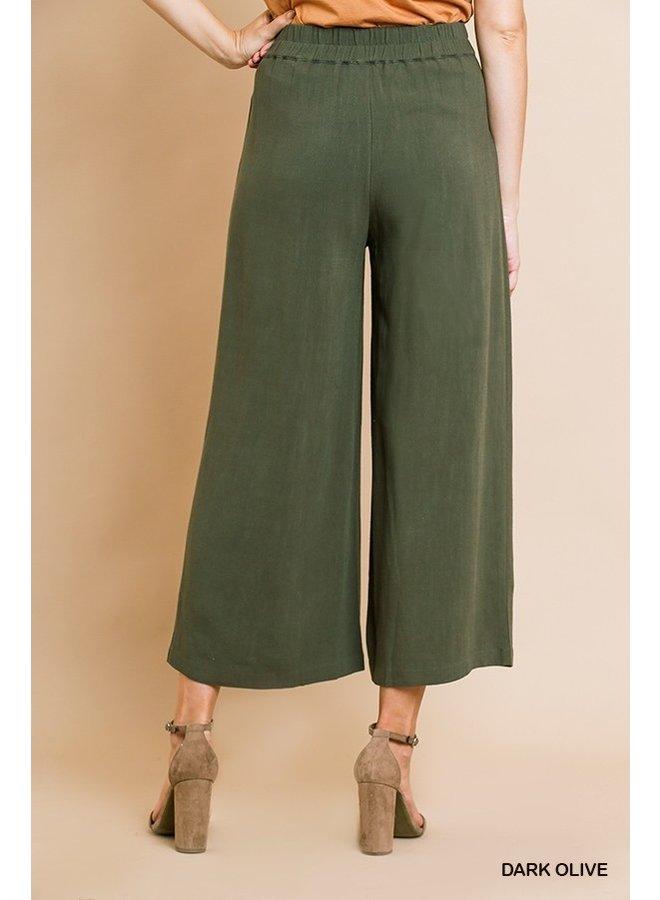 Wide Leg Elastic Pants