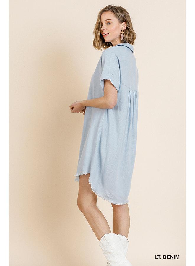 Short Sleeve Collared Dress