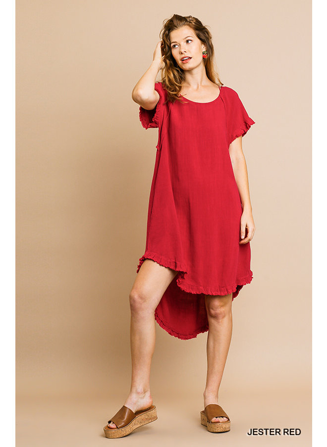 High-Low Dress With Pockets