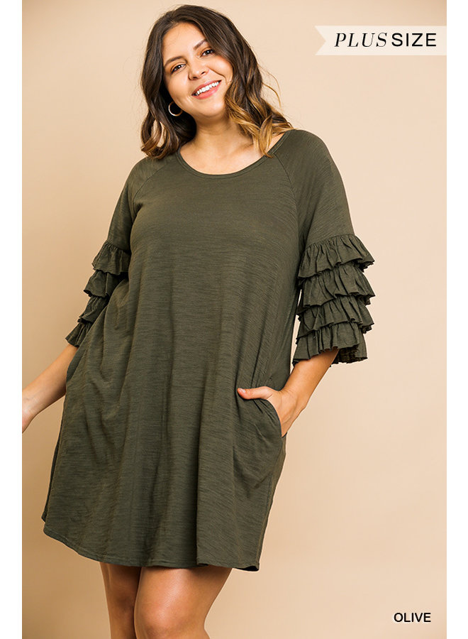 Layered Sleeve Knit Dress