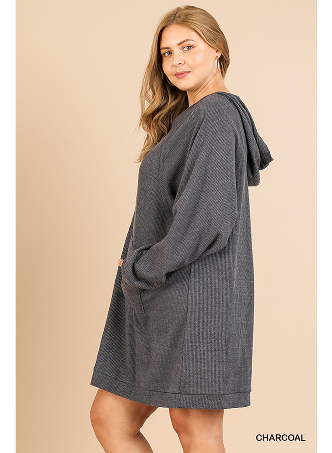 Hooded Dress with Pockets