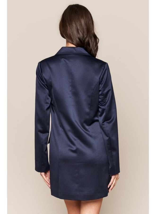 Satin Blazer Dress