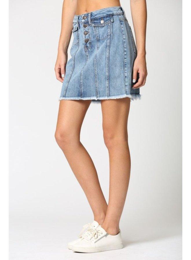 Front Pocket Mini Skirt