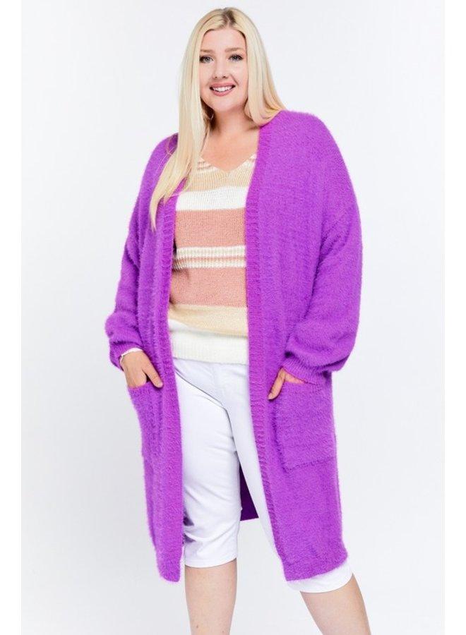 Long Fuzzy Cardigan