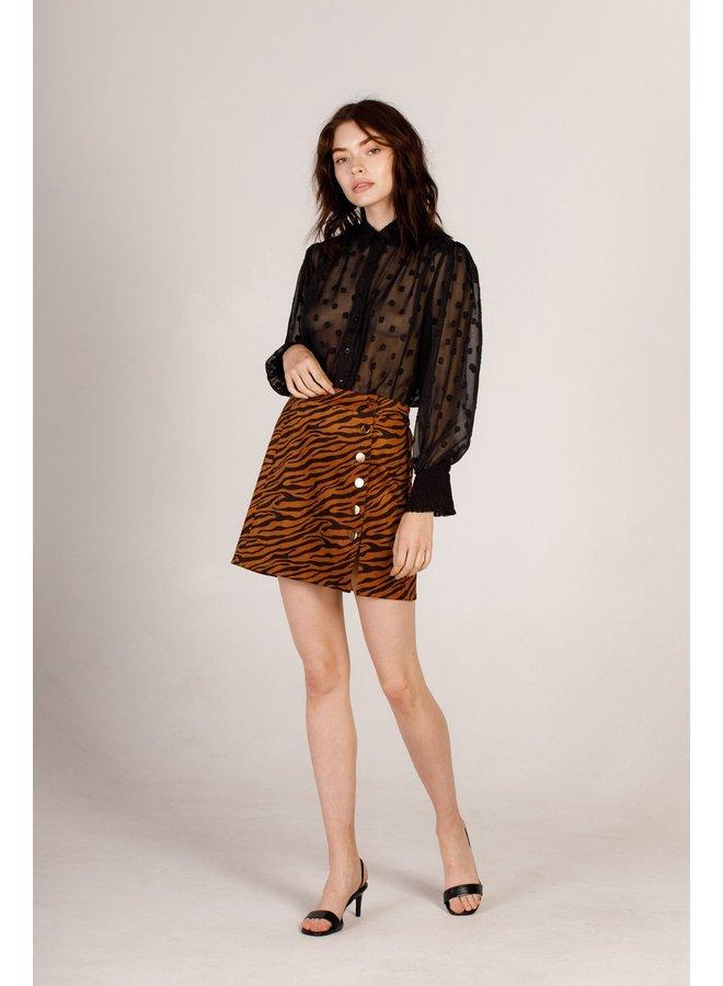 Suede Tiger Skirt