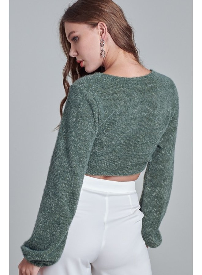 Surplice Banded Sweater