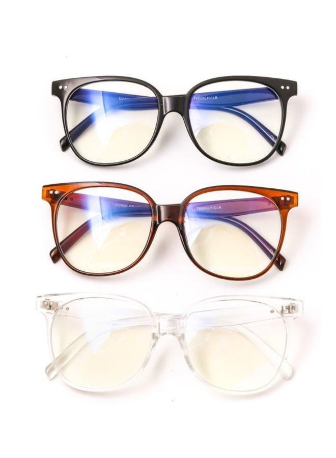 Large Frame Blue Light Glasses