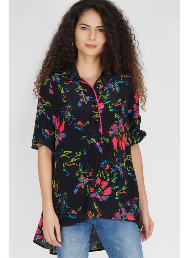 High/Low Floral Tunic