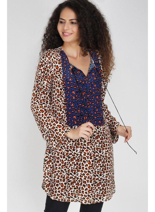 Mixed Leopard Tunic