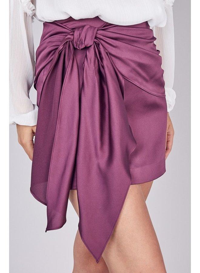 Front-Tie Mini Skirt