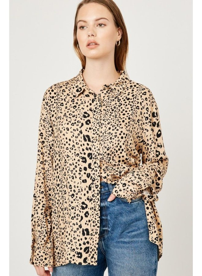 Leopard Button-Up