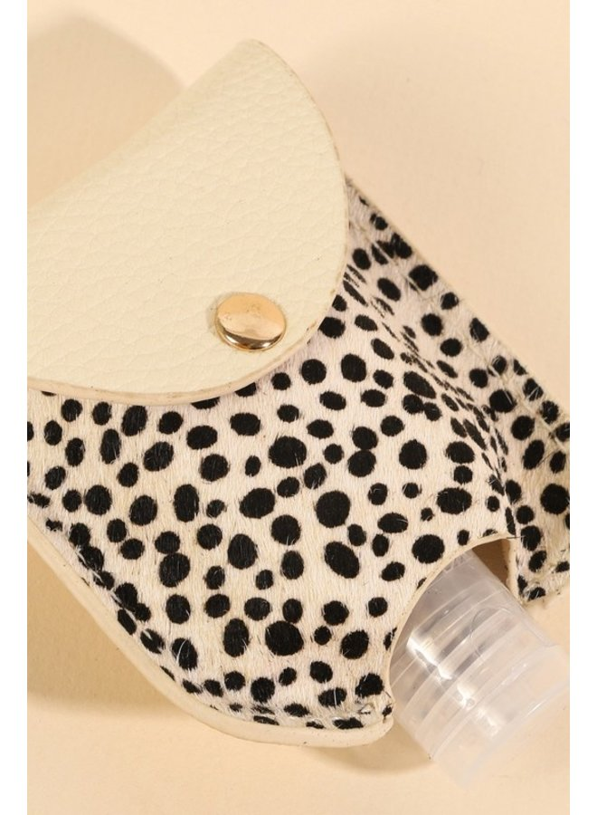Dotted Hand Sanitizer Key Chain