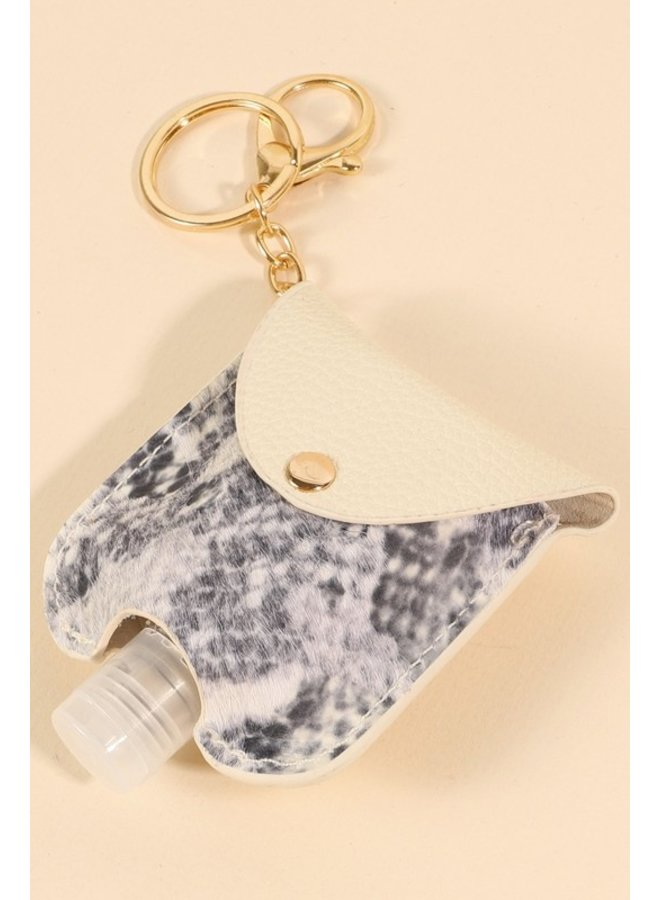 Snake Fur Hand Sanitizer Key Chain