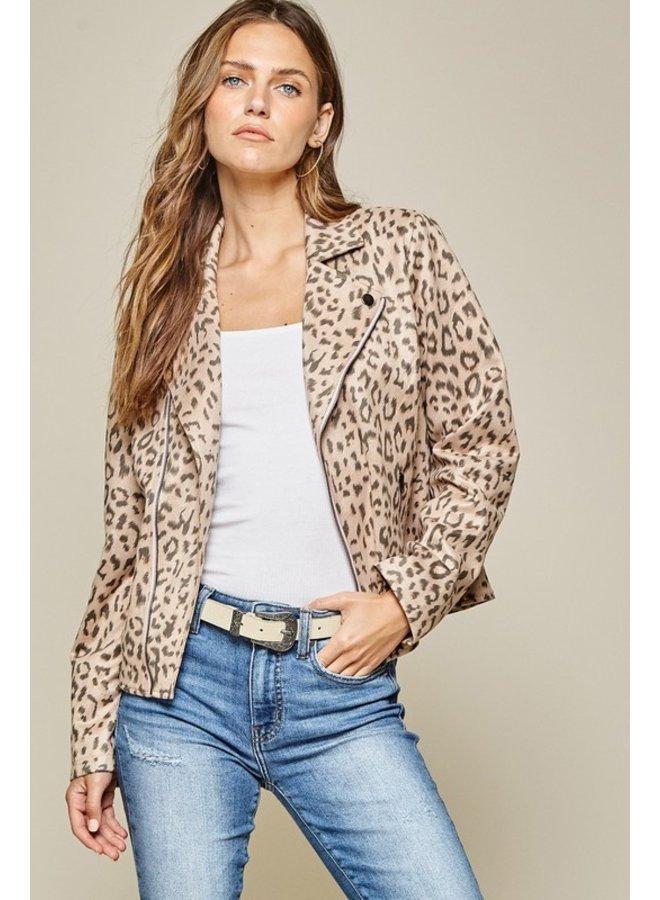 Leopard Moto Jacket