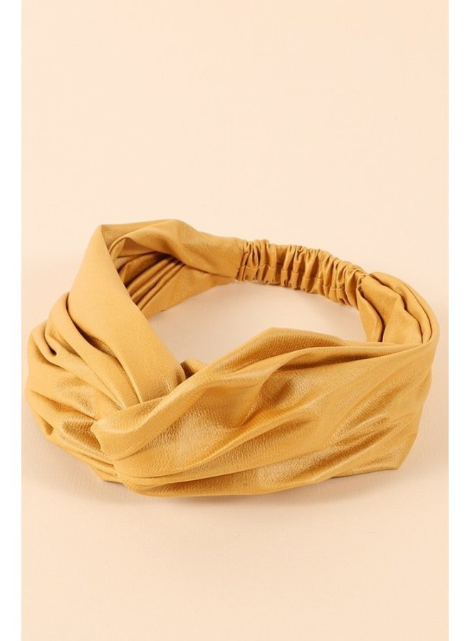 Twisted Faux Leather Headband