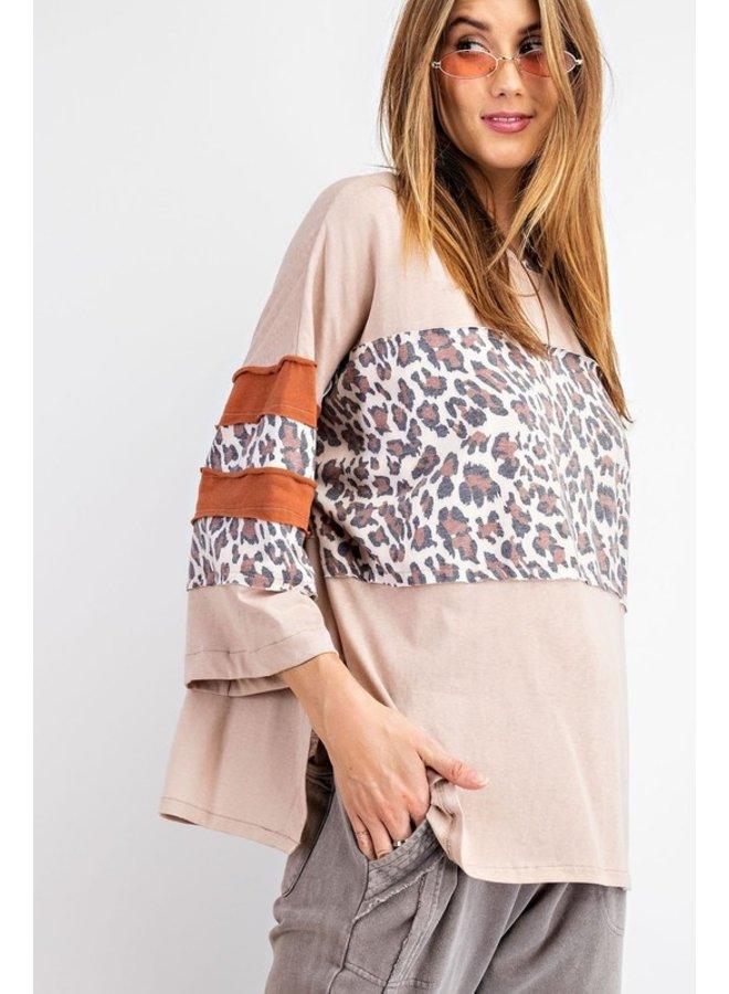 Leopard Stripe Top
