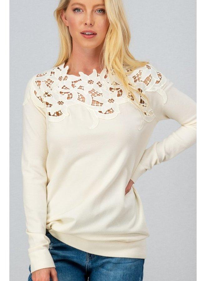 Lace Shoulder Top