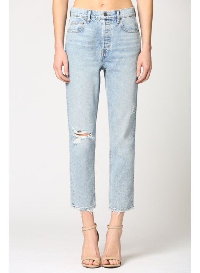 High-Rise Cropped Straight Jean