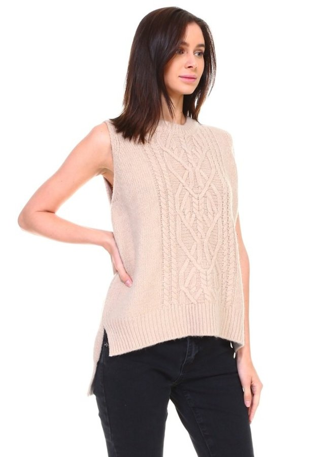 Cashmere Blend Sleeveless Sweater