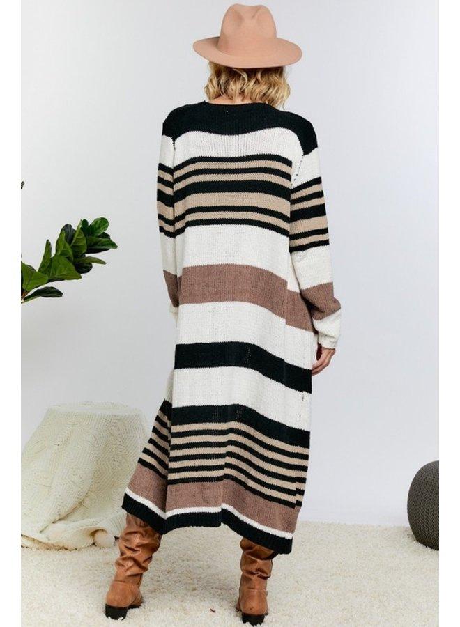 Striped Chenille Cardigan