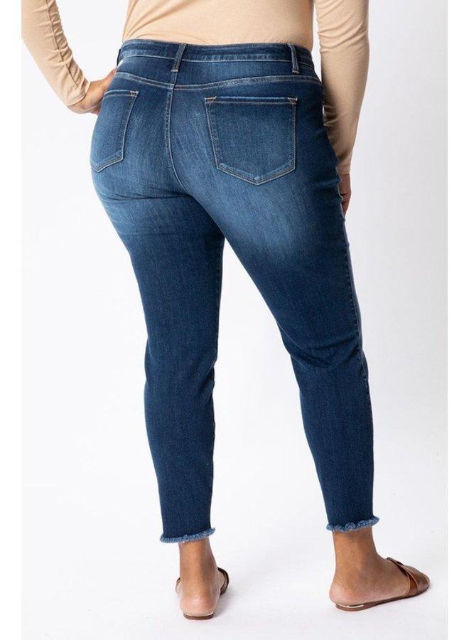 Hem Detail Ankle Skinny Jean