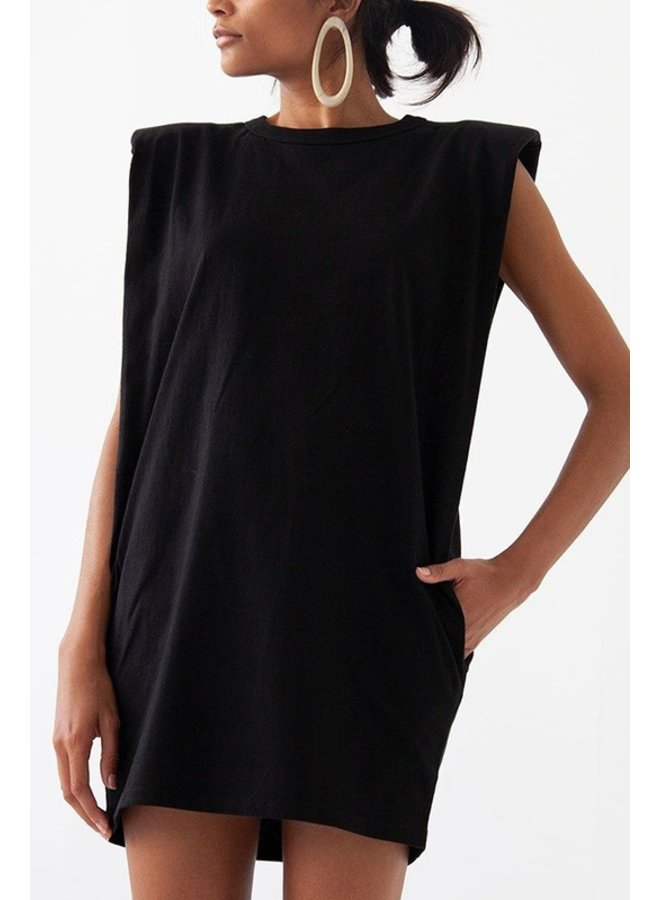 Padded Shoulder Tee Dress
