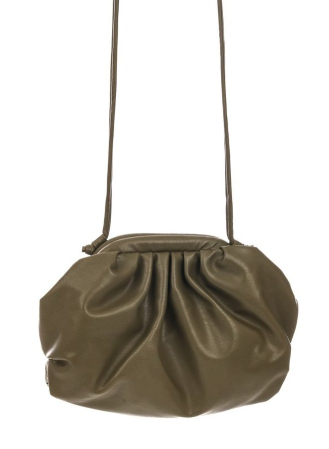 Faux Leather Ruched Purse