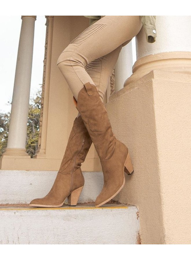 Bohemian Western Knee High Boot