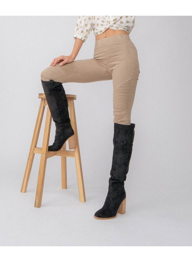 Saint Suede Tall Boot
