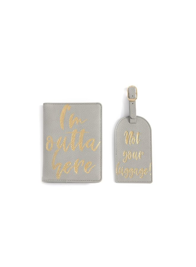 Luggage Tag & Passport Cover Set