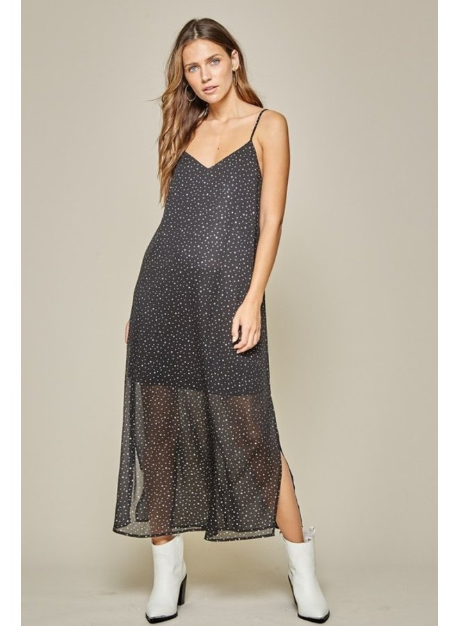 Star Embellished Maxi Dress