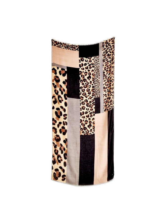 Patchwork Leopard Scarf