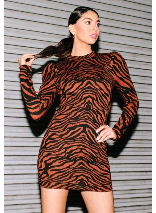 Zebra Sweater Dress