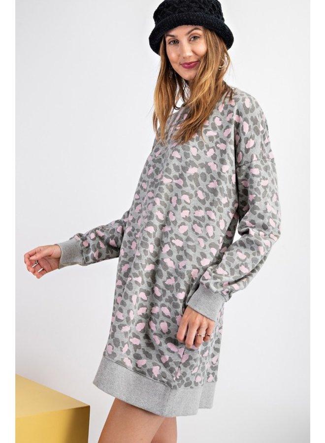 Leopard Sweatshirt Dress