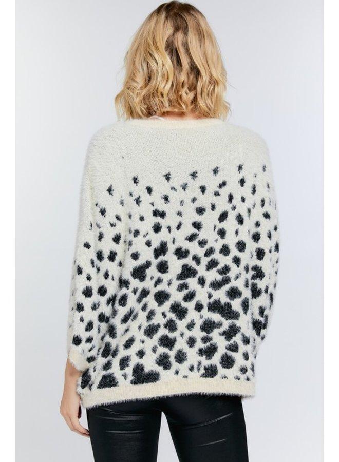 3/4 Sleeve Oversized Sweater