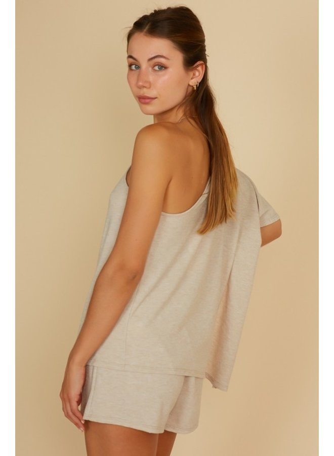 One Shoulder Knit Top