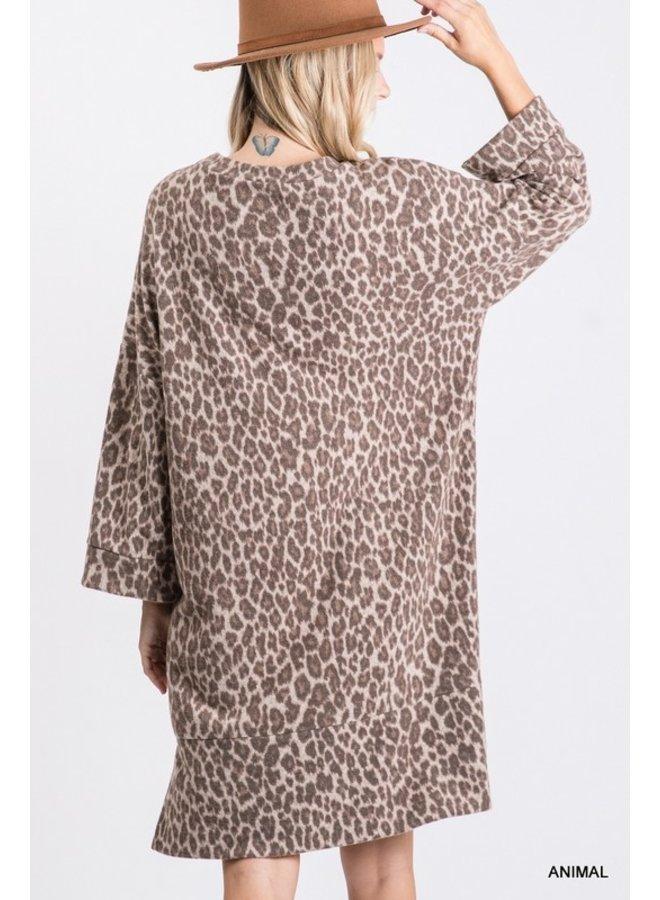 Fuzzy Leopard Dress