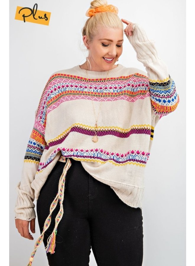 Boho Patterned Sweater