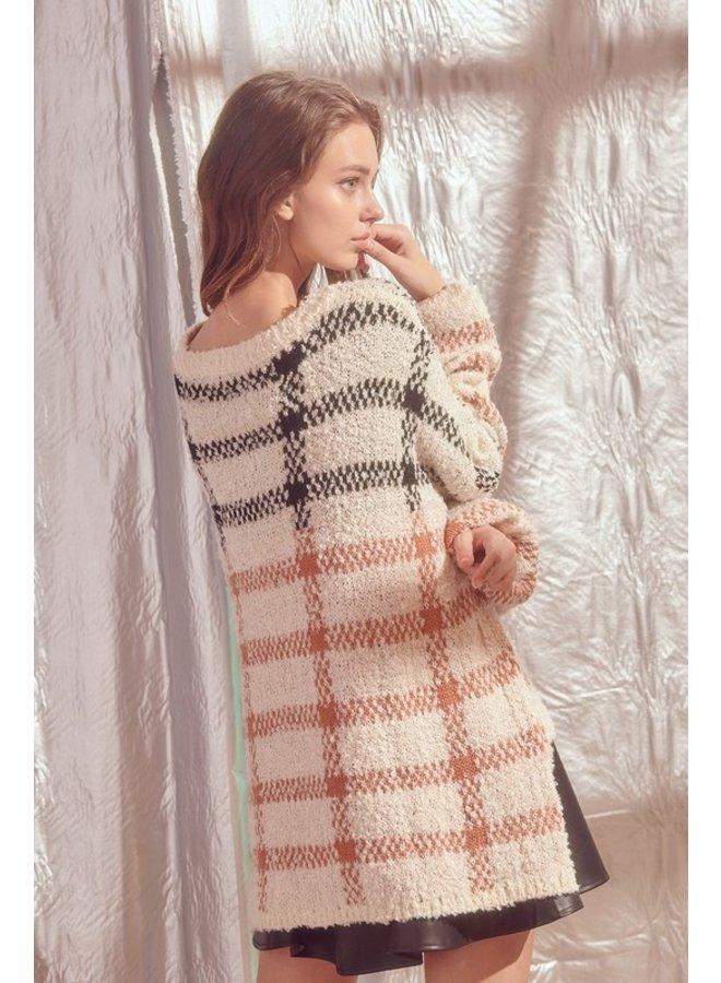 Oversized Plaid Sweater
