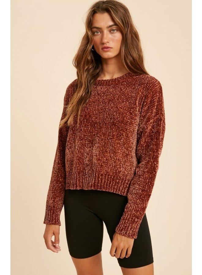 Crewneck Chenille Sweater