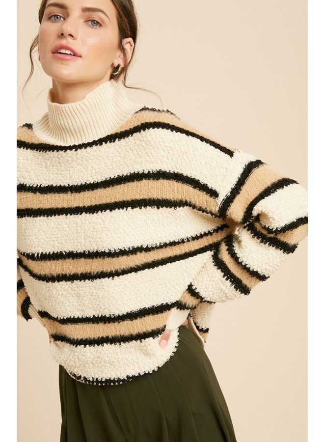 Fuzzy Stripe Sweater