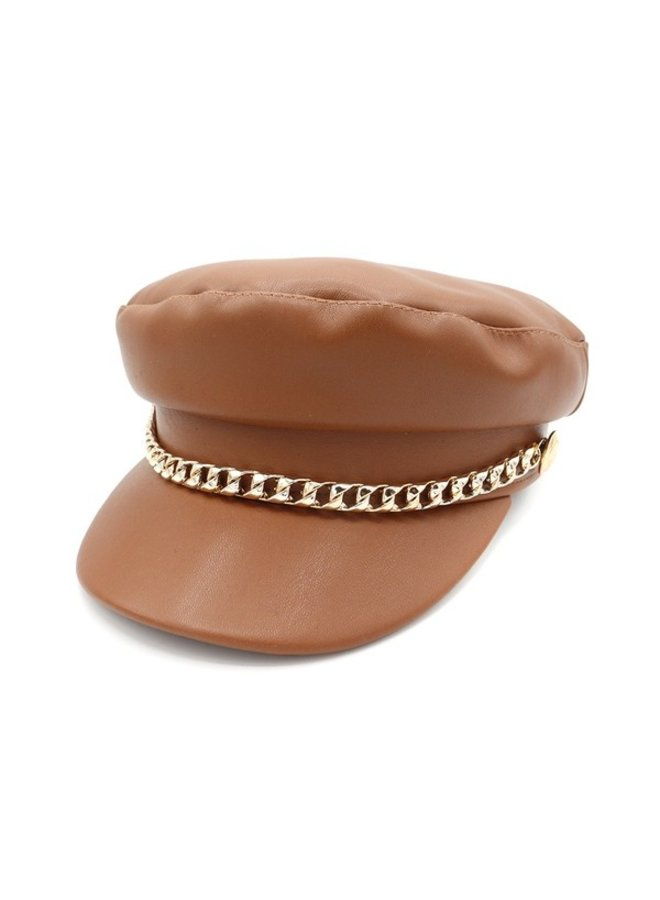 Leather Dandy Military Cap