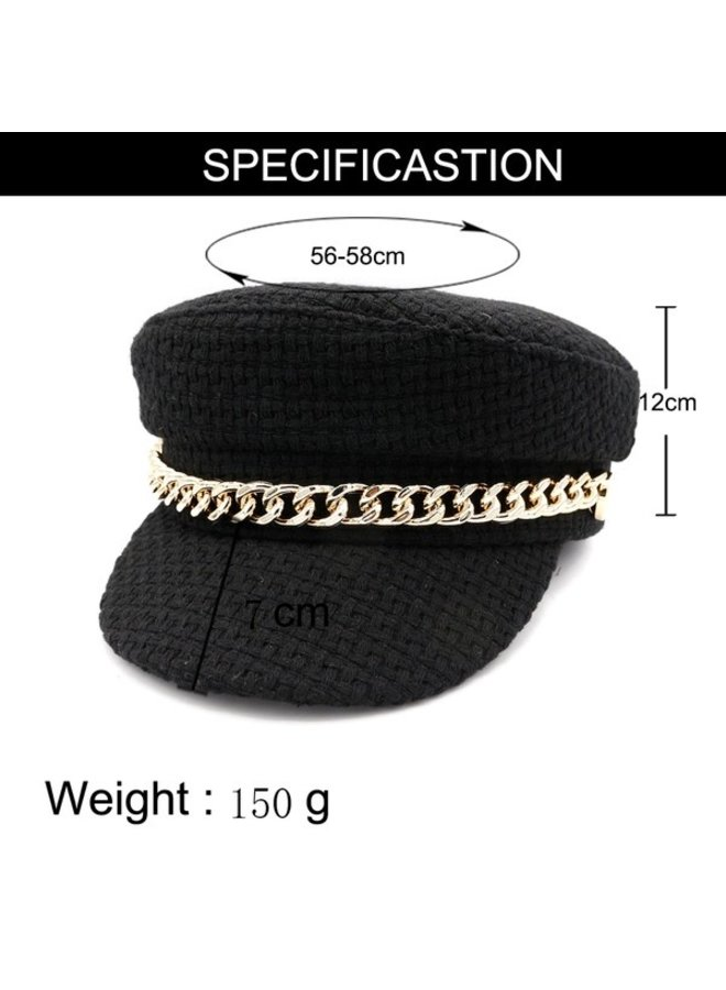 Chain Belt Military Cap