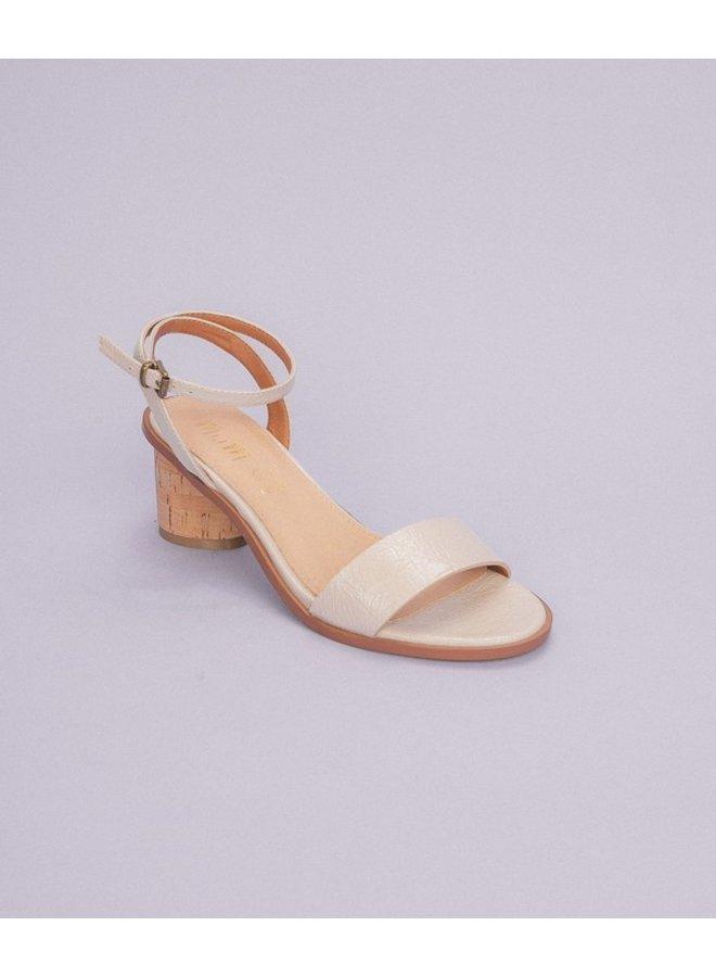 Renee One-Band Cork Heel