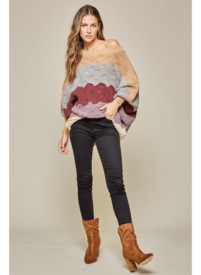 Colorblock Stripe Sweater