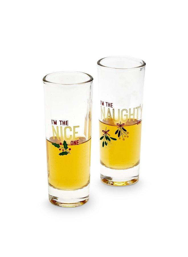 Naughty/Nice Shot Glass Set